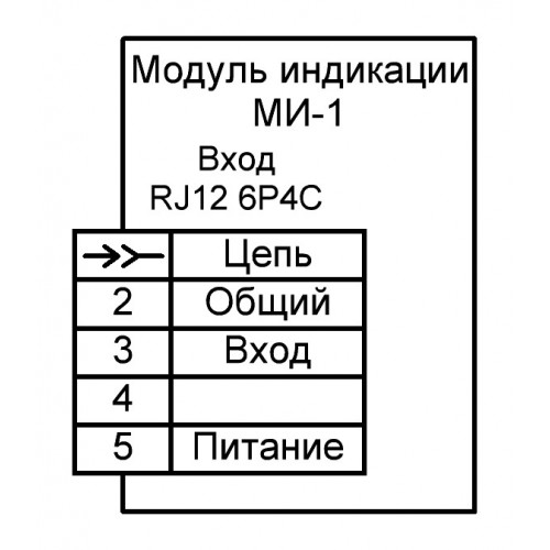 Модуль индикации МИ-1